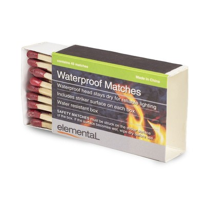 Elemental Waterproof Matches - 4 Box Pack