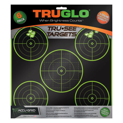 TRUGLO 5 Spot Tru See Rifle Targets - 6 Pack