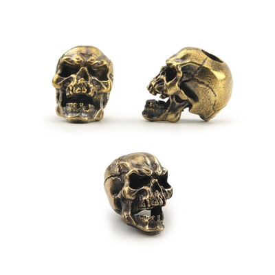 Paracord Bead - Gold Skull